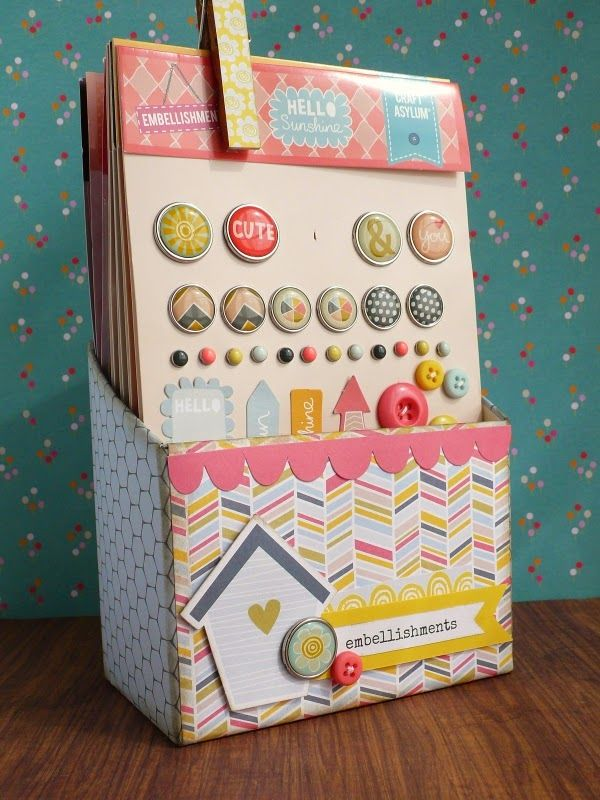 Creative Rox: Scrapbooking Storage idea