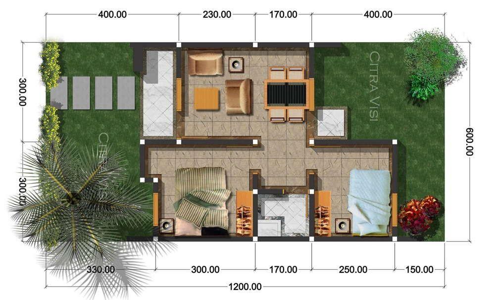 Denah Rumah Minimalis Type 36 Denah Rumah Minimalis In 2018