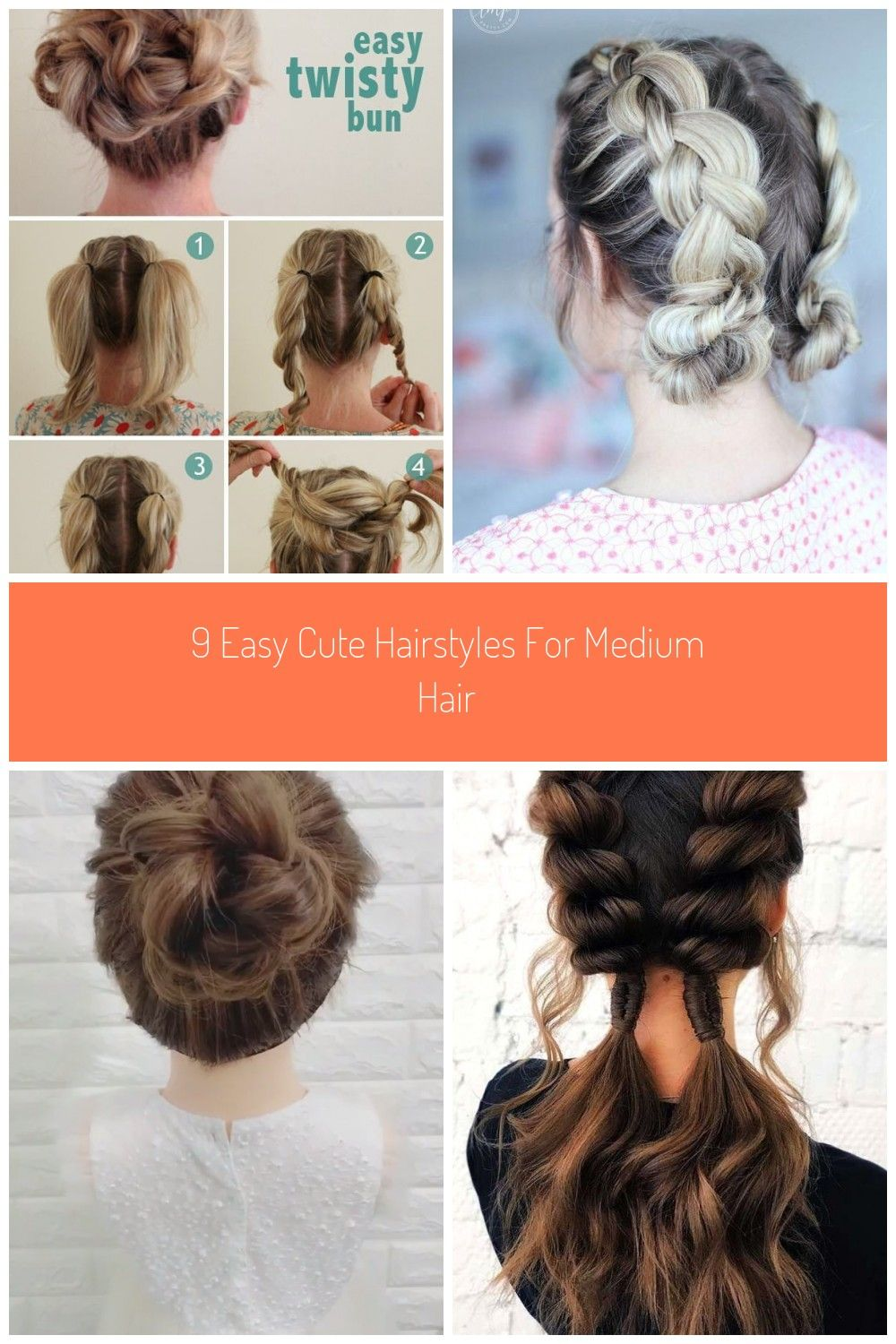 cute easy hairstyles for medium long hair best 10 medium hair updo