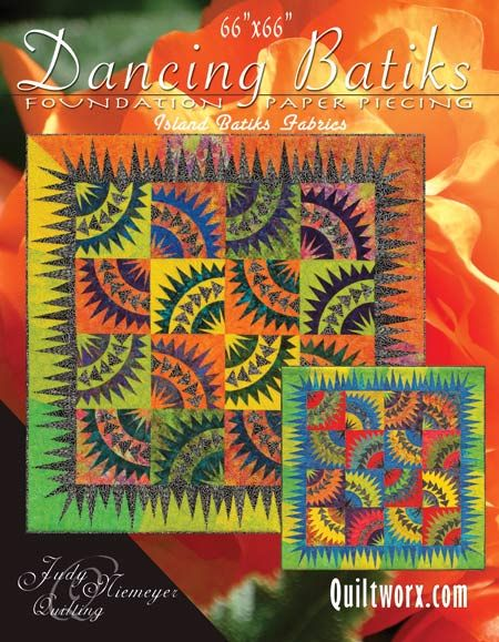Dancing Batiks - Available from Quiltworx.com - A Judy Niemeyer Quilting Company. Shop for more patterns and quilting supplies on store.quiltworx.com