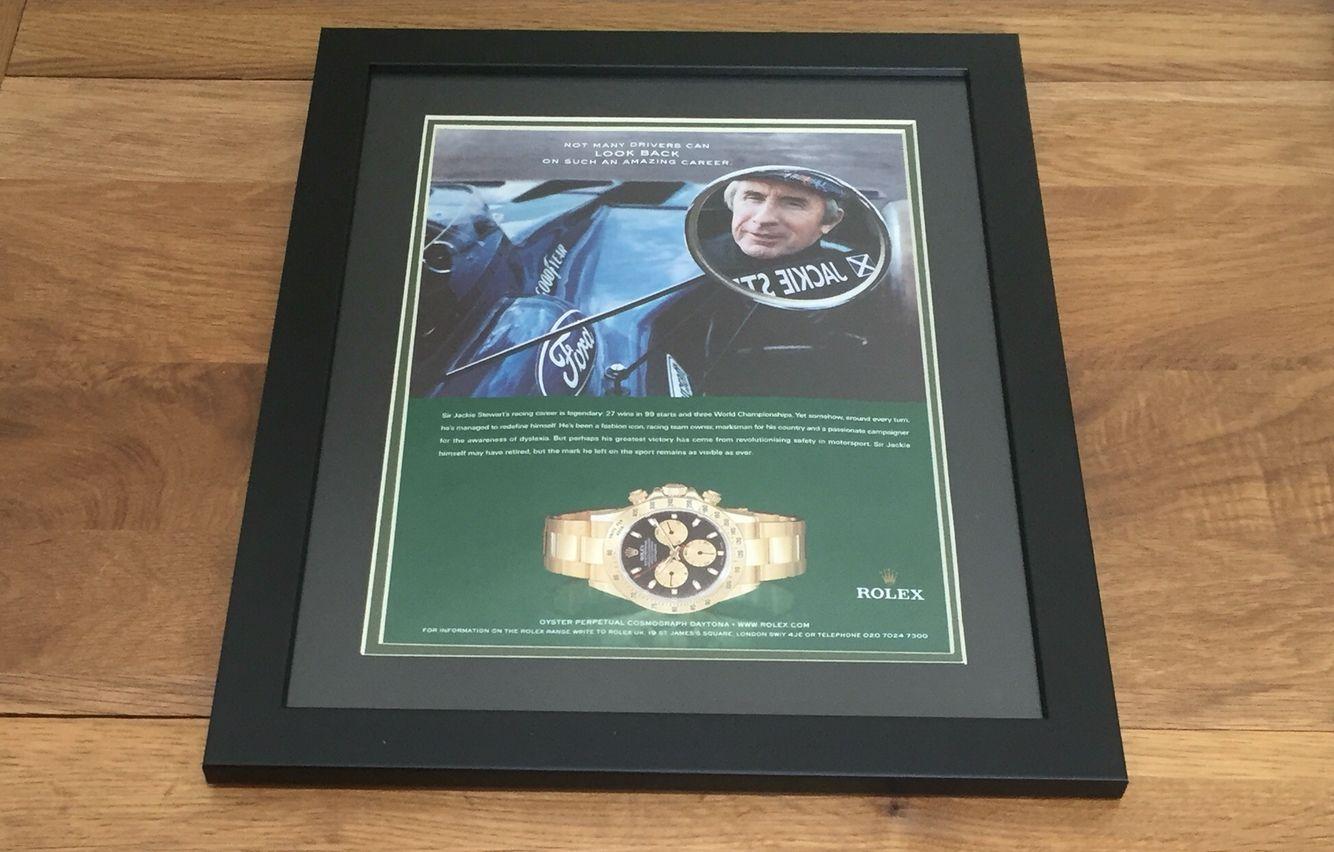 Jackie Stewart F1 and Rolex Daytona. Legend overload!