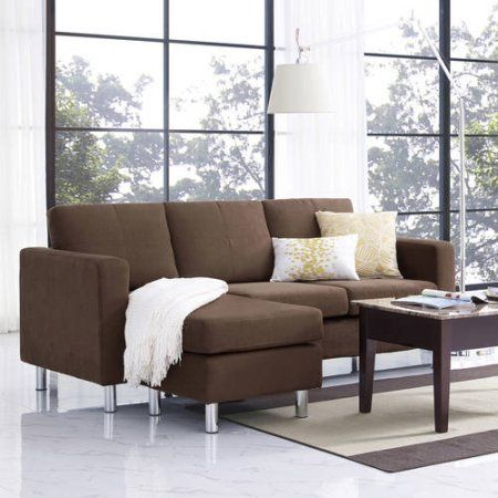 Generic Small Spaces Configurable Sectional Sofa Walmart Com Small Sectional Sofa Small Space Sectional Sofa Sofas For Small Spaces