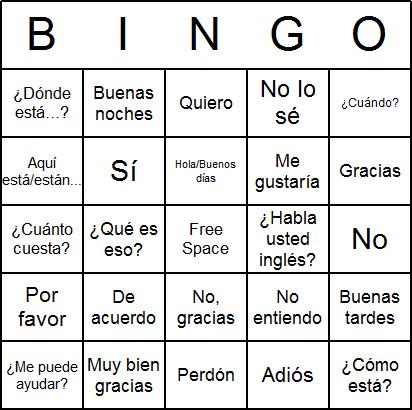 Free Printable Spanish Bingo Cards and Spanish Bingo Game released ...