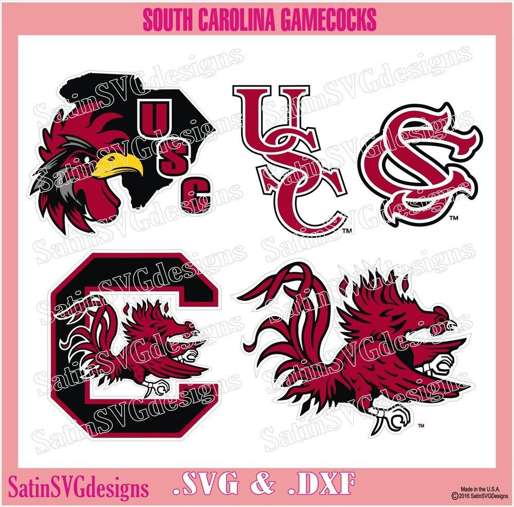 University Of South Carolina Perfect Cut Color Decal 4x4