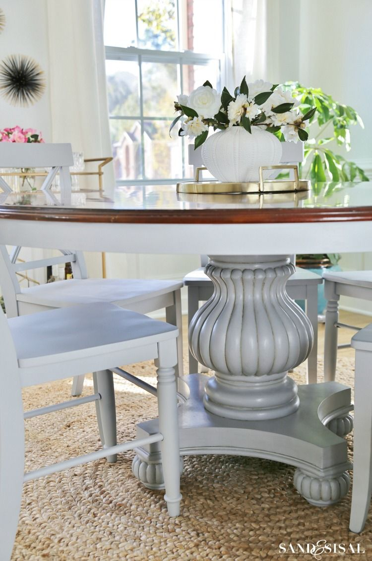 Coastal Dining Room Makeover Sand And Sisal Coastal Dining