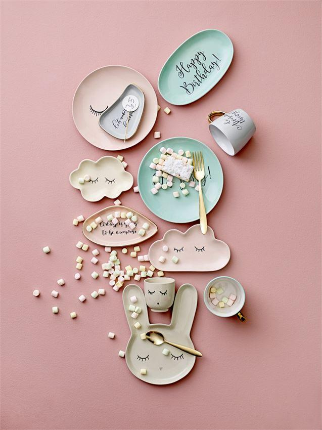 Audrey Stoneware Plate In Rose Design By Bd Mini Kids Tableware Ceramic Plates Ceramics