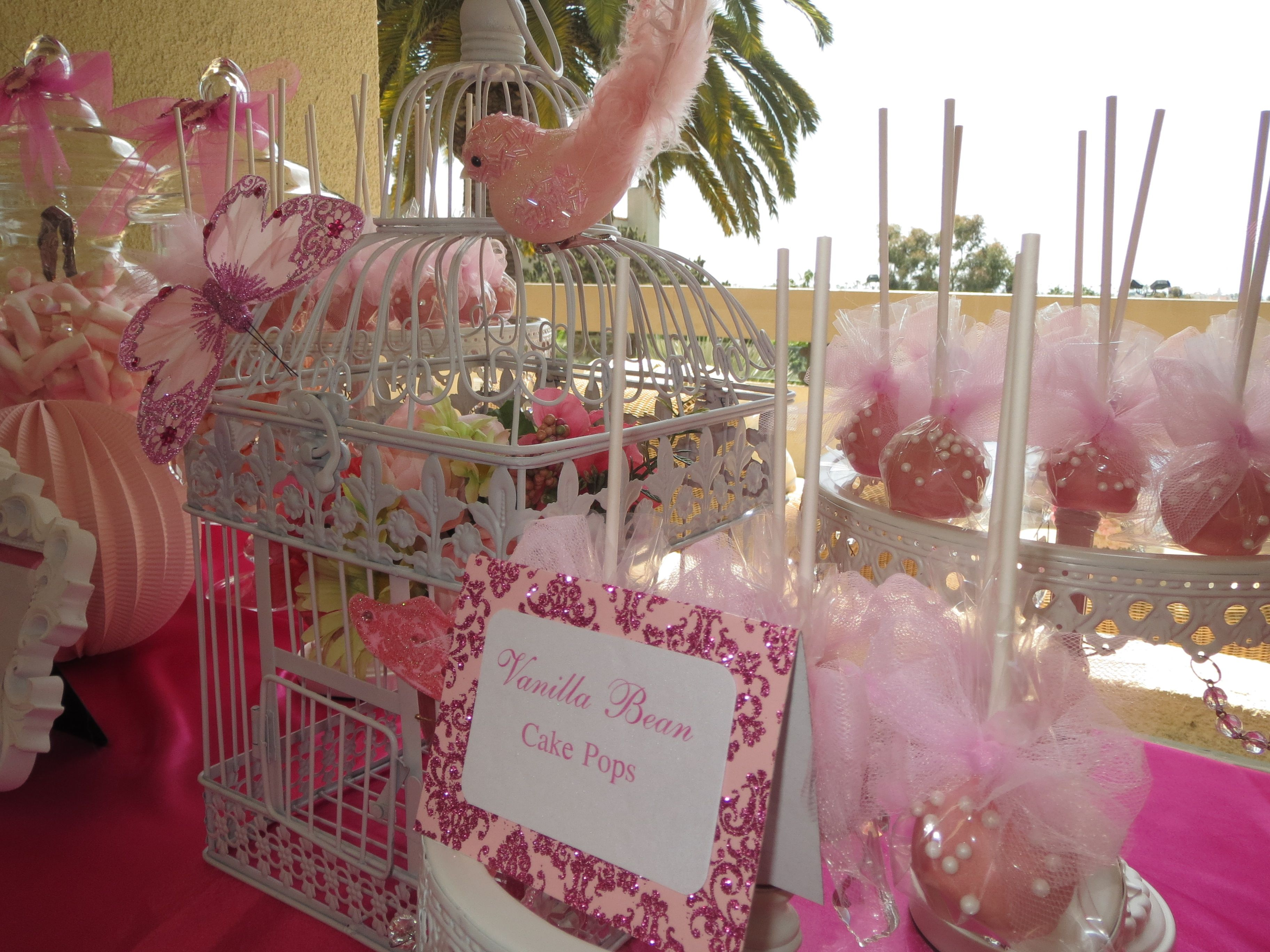Butterfly Themed Candy Table By Oc Sugar Mama Candy Table Pink Butterfly Candy Desserts