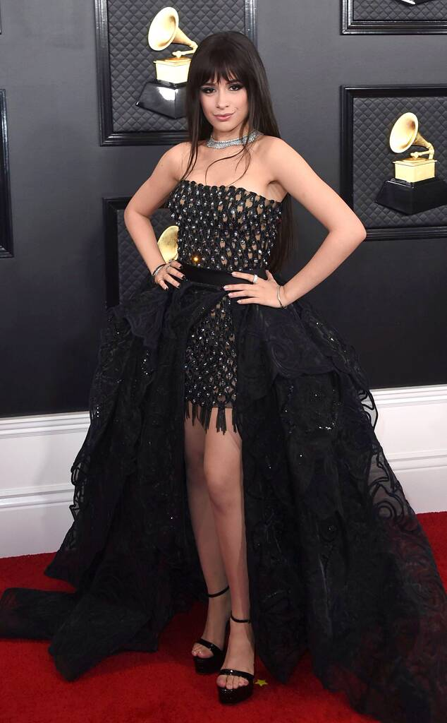 Camila Cabello at the 2020 Grammy Awards | Minivestido, Camila cabelo, Vestidos