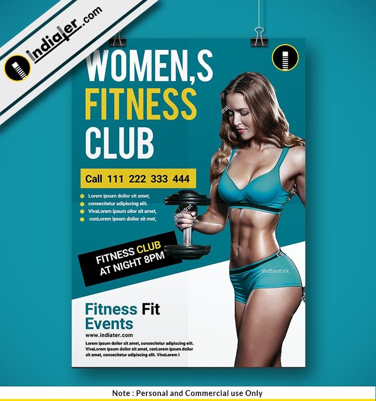 Free Women Fitness Gym Club Psd Poster Design Gym Workouts Women Fitness Flyer Gym Poster
