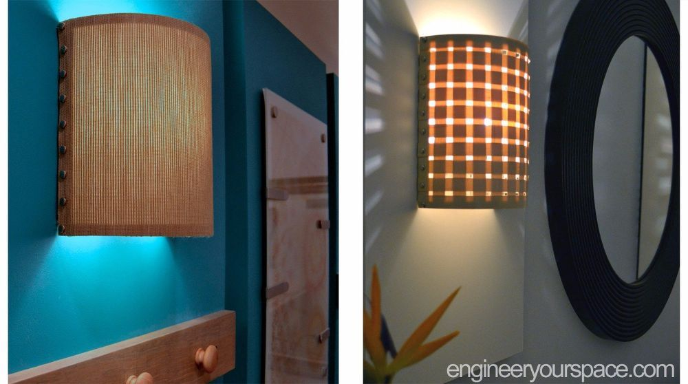 Inexpensive Plug In Wall Sconces : You may want to buy veneer edging when you see her cool lighting hack Diy wall, Sconces and ...
