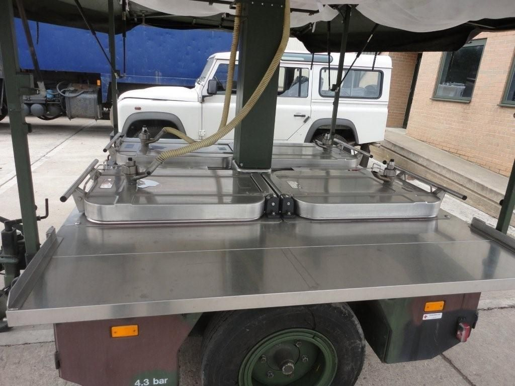 Karcher TFK 250 army mobile field kitchen trailer   used military ...