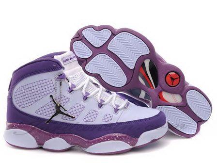 promo code c494f 83ac0 Air Jordan 9 Retro Dark red purple And White
