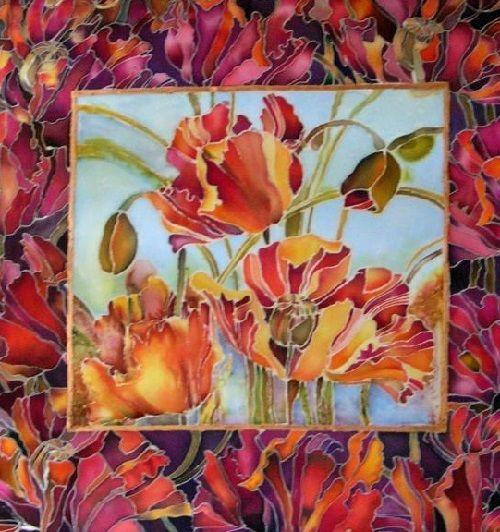 silk artist Svetlana Grigoniene