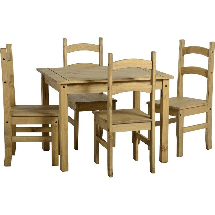 Corona Budget Dining Table and 4 Chairs Solid Pine Mexican by Mercers  Furniture - Our Budget Mexican Style Dining Table Set Offers Great Value With