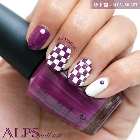 DIY Basket Weave Nailart by Alpsnailart #purple #polish #nailart #nails - bellashoot.com