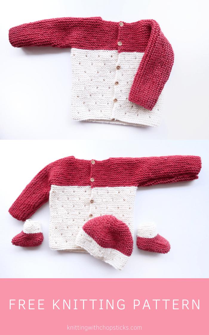 Strawberry Seed Knit Baby Sweater Pattern   Knitting with Chopsticks
