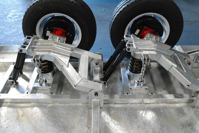 Kessner trailers 8x5 galvanised independent suspension for 4 box auto in tandem