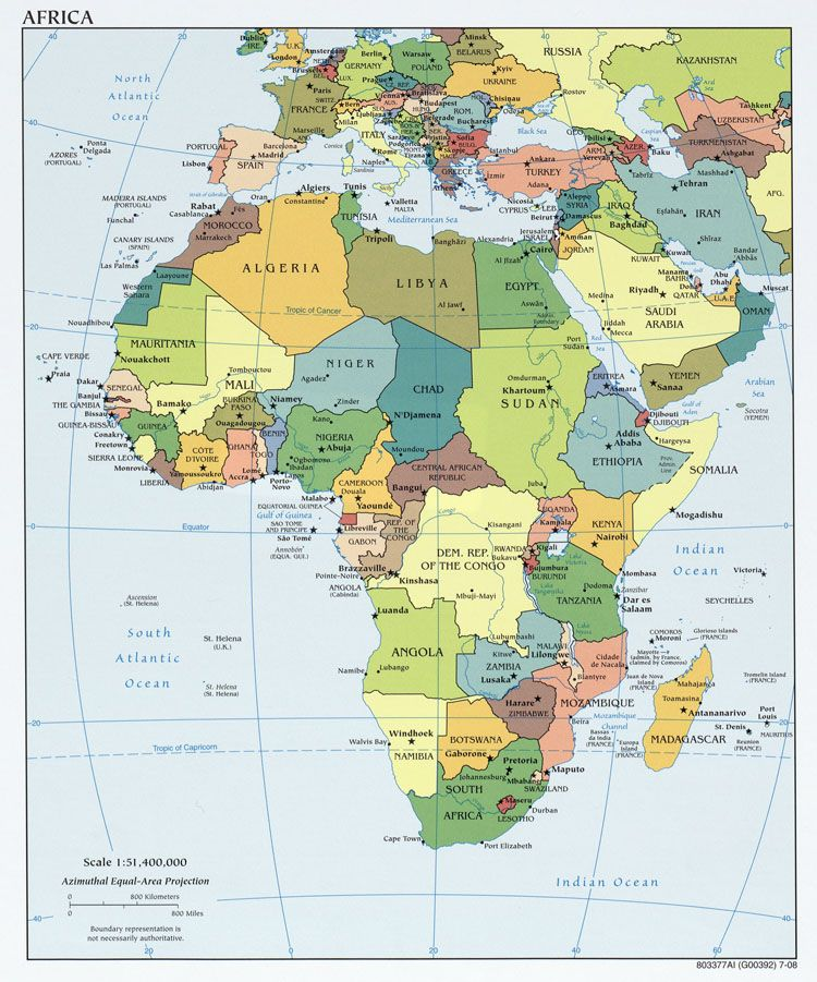 Map of Africa All the countries and all the people who dont have