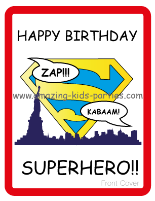 image regarding Free Printable Superhero Birthday Cards identified as Cost-free Printable Superhero Birthday Card Superhero Get together