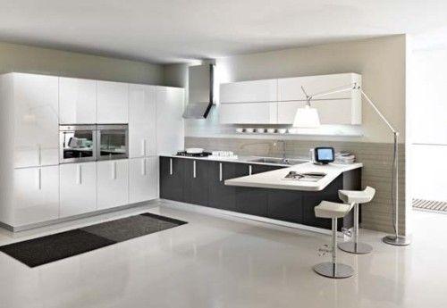Hermosas Cocinas en Color Blanco y Negro