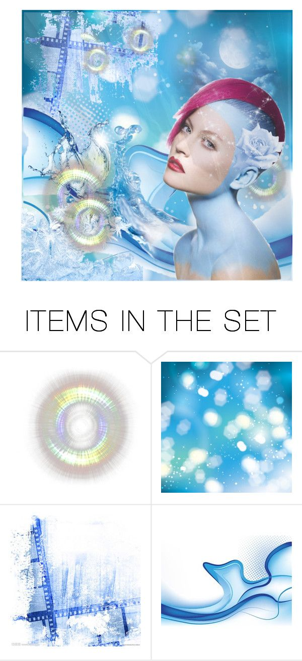 """Light Blue Study"" by capricat ❤ liked on Polyvore featuring art"