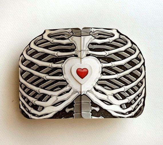 Adorable scratch off rib-cage valentine.