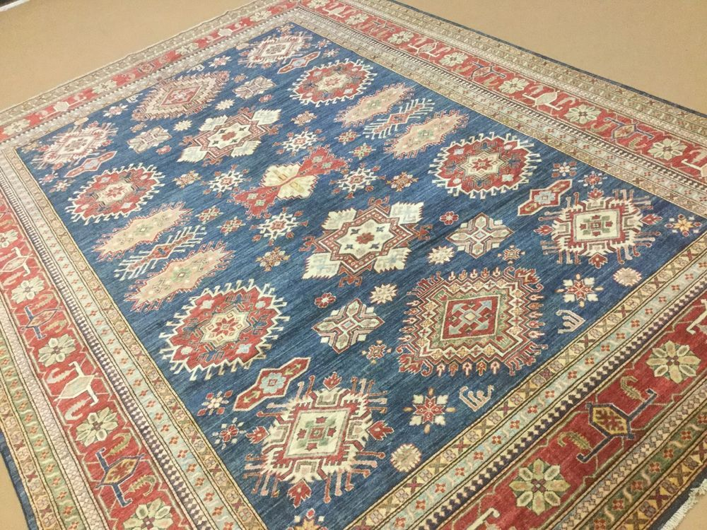 8 11 X 12 0 Blue Red Very Fine Geometric Oriental Area Rug Hand Knotted Wool Rugs Oriental Area Rugs Oriental Persian Rugs