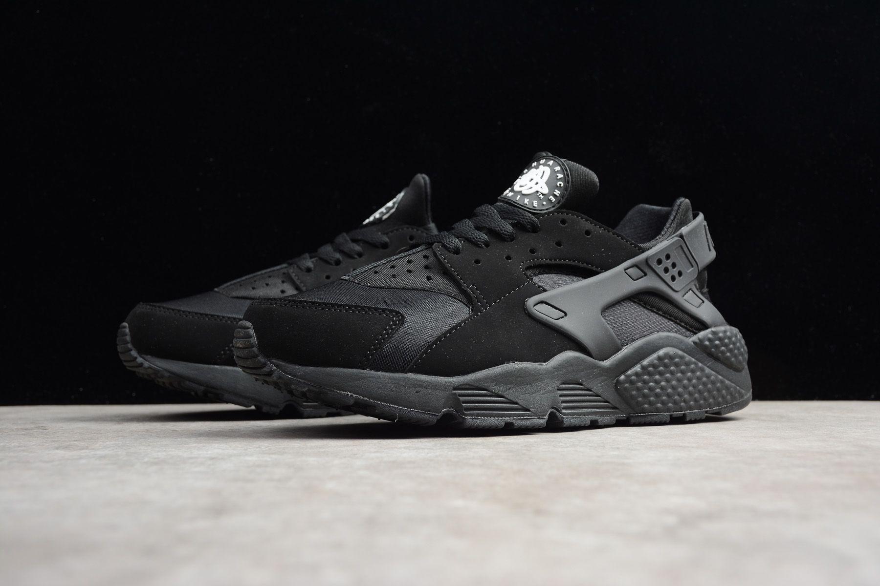 "online store 2c635 57b8f Men s and Women s Nike Air Huarache Run ""Triple Black"" 318429-003"