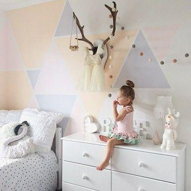 Chambre de petite fille aux couleurs pastel   Room