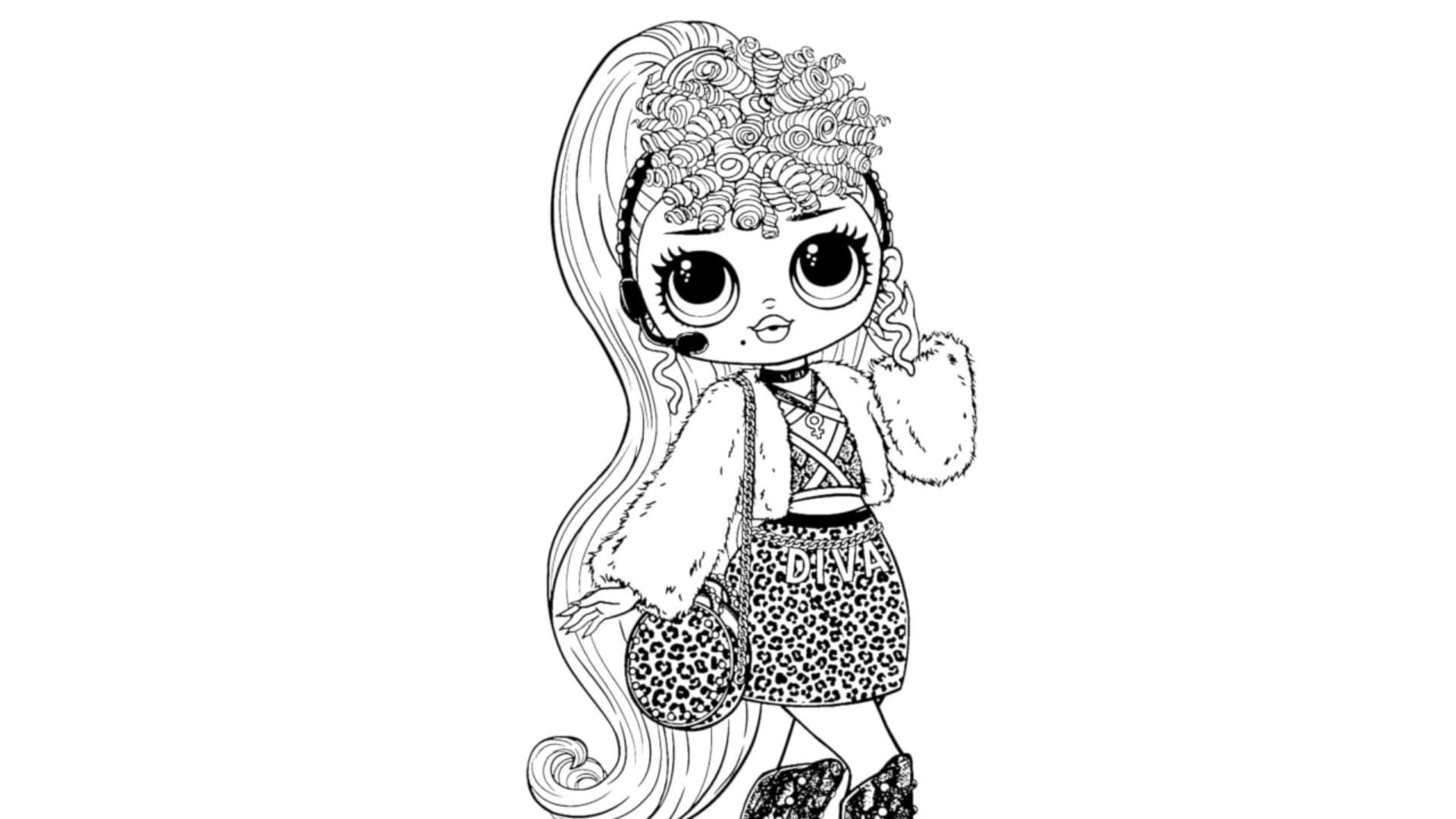 Coloring Pages Lol Omg Print New Popular Dolls For Free