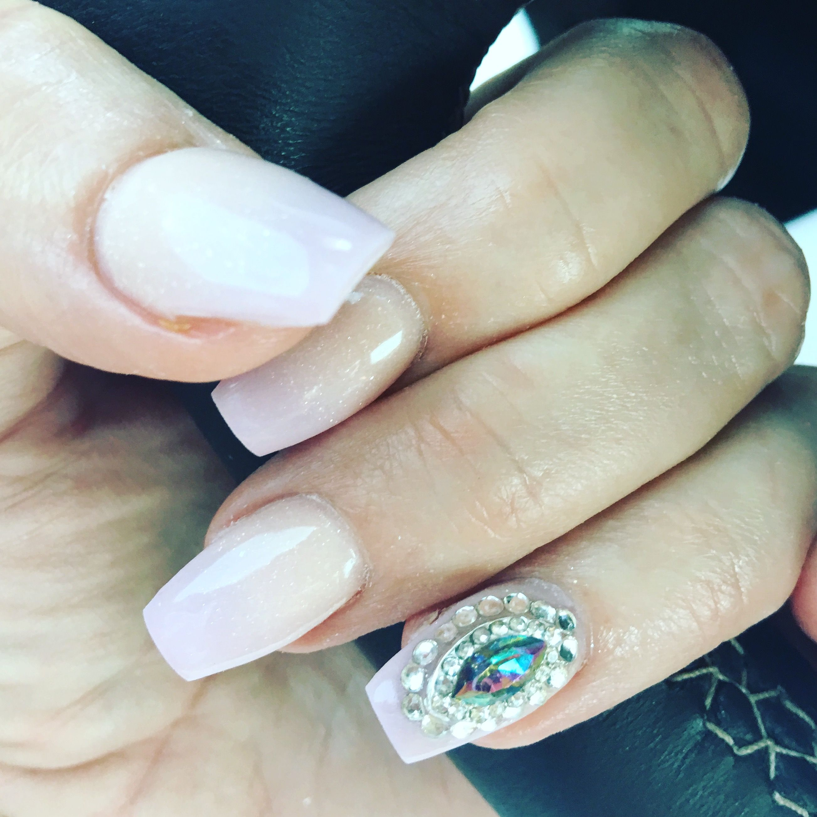 Blinged ombre nails. QueenNails Fort Wayne, IN | Make me up...Ms ...
