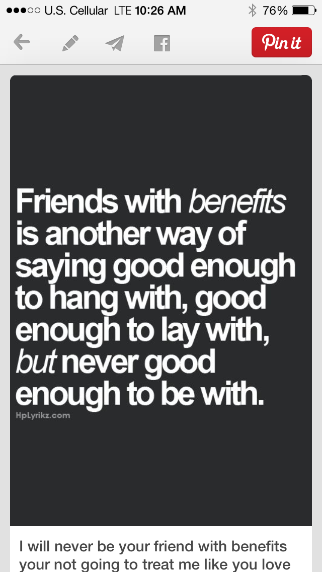 how to treat a friend with benefits