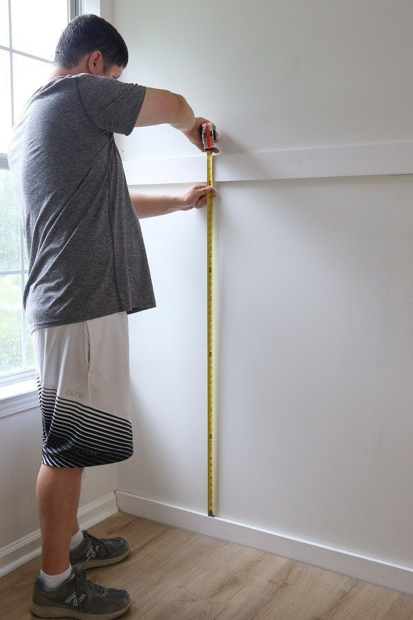 Easy DIY Board and Batten Wall #boardandbattenwall How to easily install a DIY board and batten wall in any room! This budget friendly and simple DIY board and batten accent wall will add instant character to your home! Board and batten wainscoting. #boardandbatten #diy #homeimprovement #accentwall #boardandbattenwall Easy DIY Board and Batten Wall #boardandbattenwall How to easily install a DIY board and batten wall in any room! This budget friendly and simple DIY board and batten accent wall w #boardandbattenwall