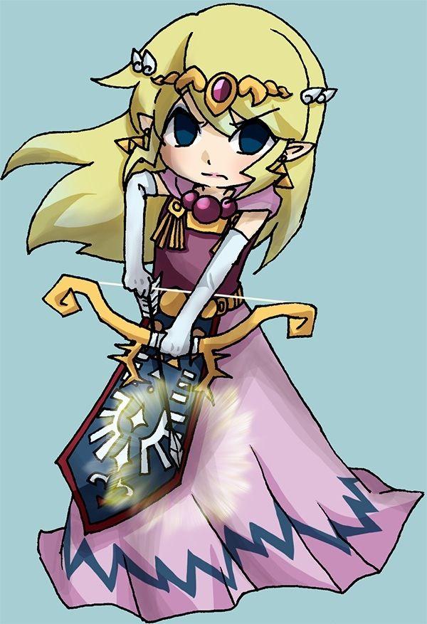 Toon Zelda Legend Of Zelda Legend Of Zelda Breath Princess Zelda