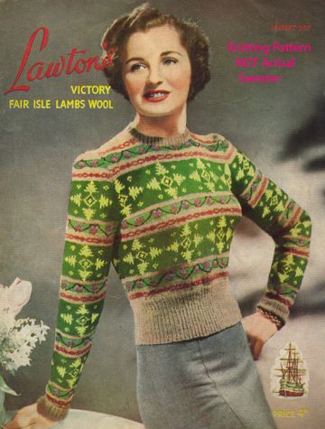 Knitting Pattern fair isle jumper sweater 40s Vintage | Fair isles ...