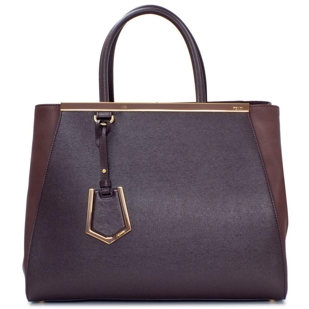 Fendi 2Jours Bag in brown vitello   Bags   Pinterest   Fendi, Bags ... 141028e4858