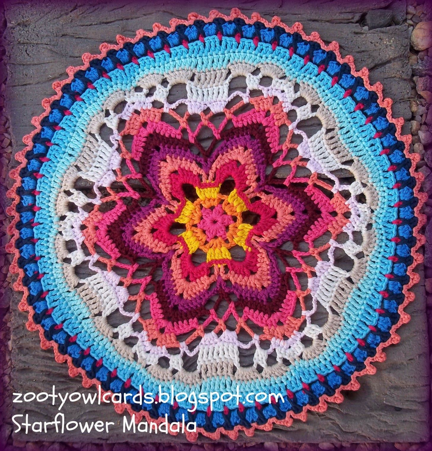 Starflower Mandala: Row by Row | tejidos | Pinterest | El mandala ...