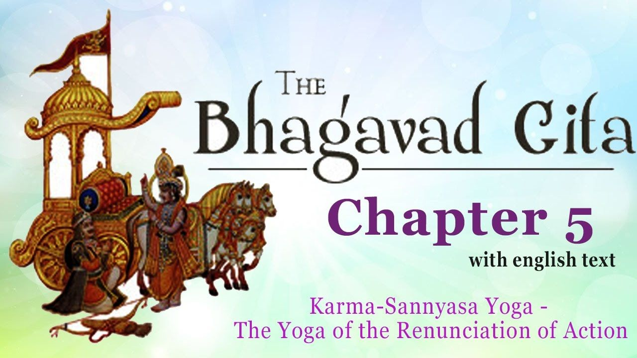 #BhagavadGita Chapter 5 | Karma Sanyasa Yoga | The Yoga of the Renunciation of Action | With Lyrics | #Sanskrit #Chanting