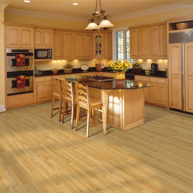 Honey Oak Cabinets, What Color Laminate Flooring With Honey Oak Cabinets