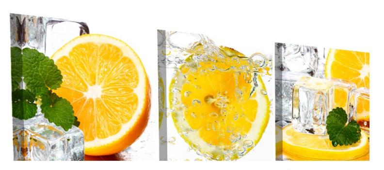 Lemon Splash 3 Panel Kitchen Wall Art   Kitchen wall art, Modern ...