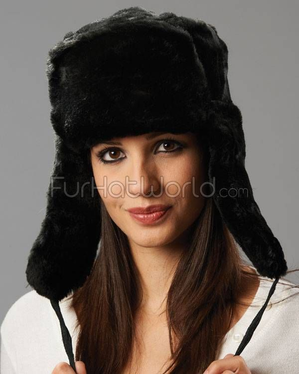 0264708341d The Sochi Black Faux Fur Ladies Russian Hat with Badge | costume ...