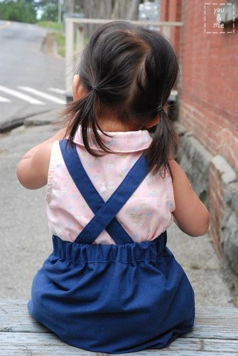 FREE Kids Suspender Skirt Sewing Pattern and Tutorial | BABIES AND ...