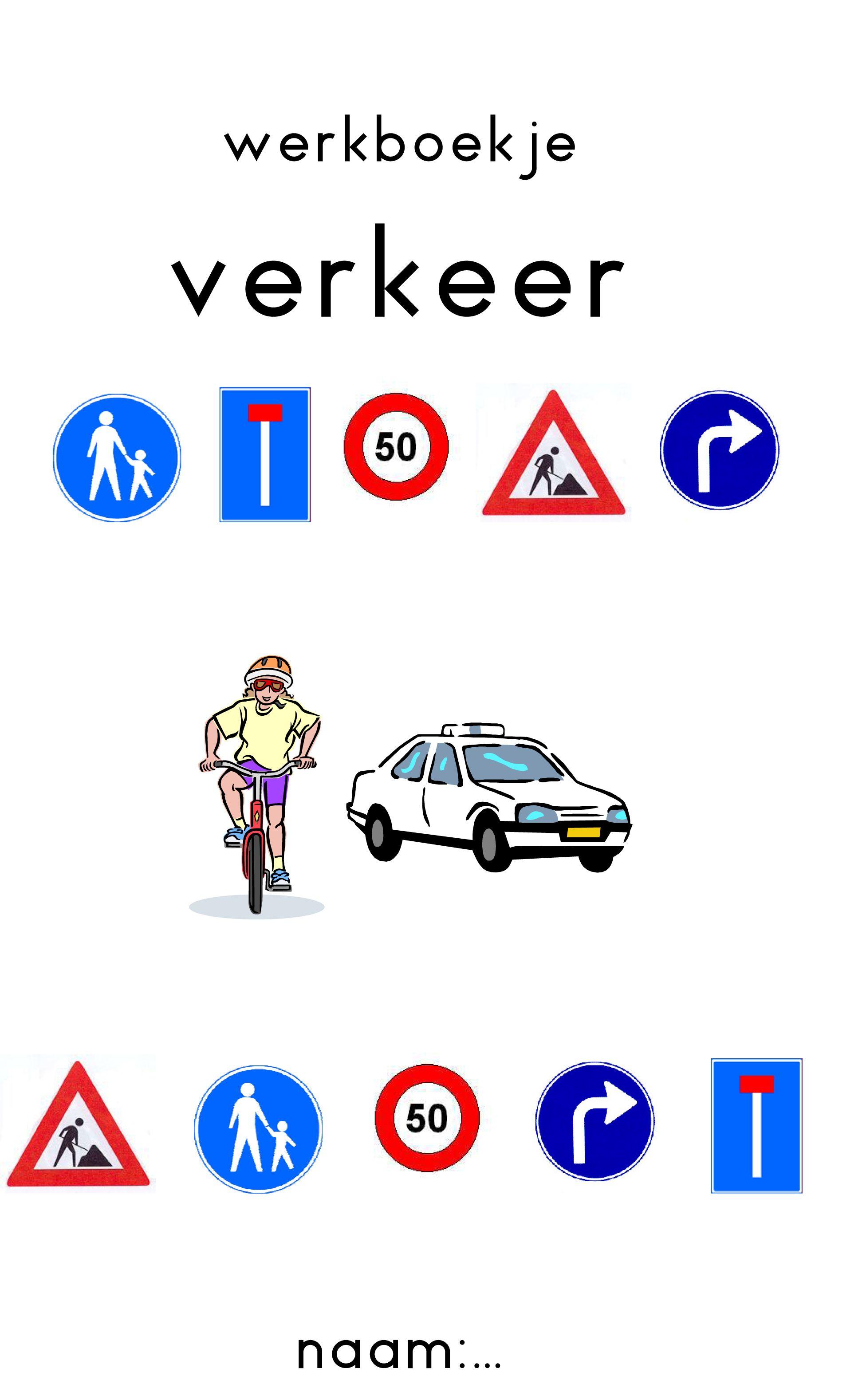Vertelprent Op De Fiets Verkeer T School And Transportation