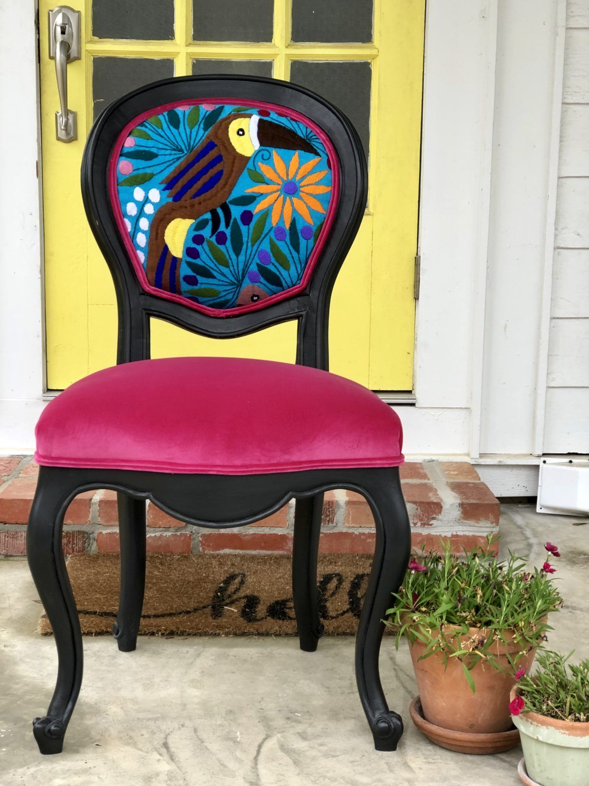 Chair whimsy spring collection bright colorful designed