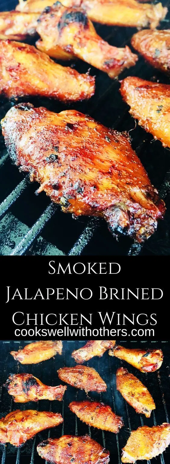 Smoked Jalapeno Brined Chicken Wings - Cooks Well With Others