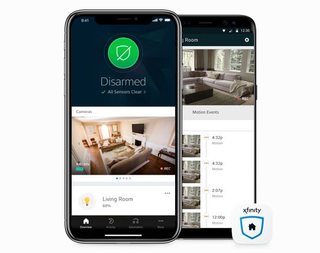Half image home security mobile aps Image house