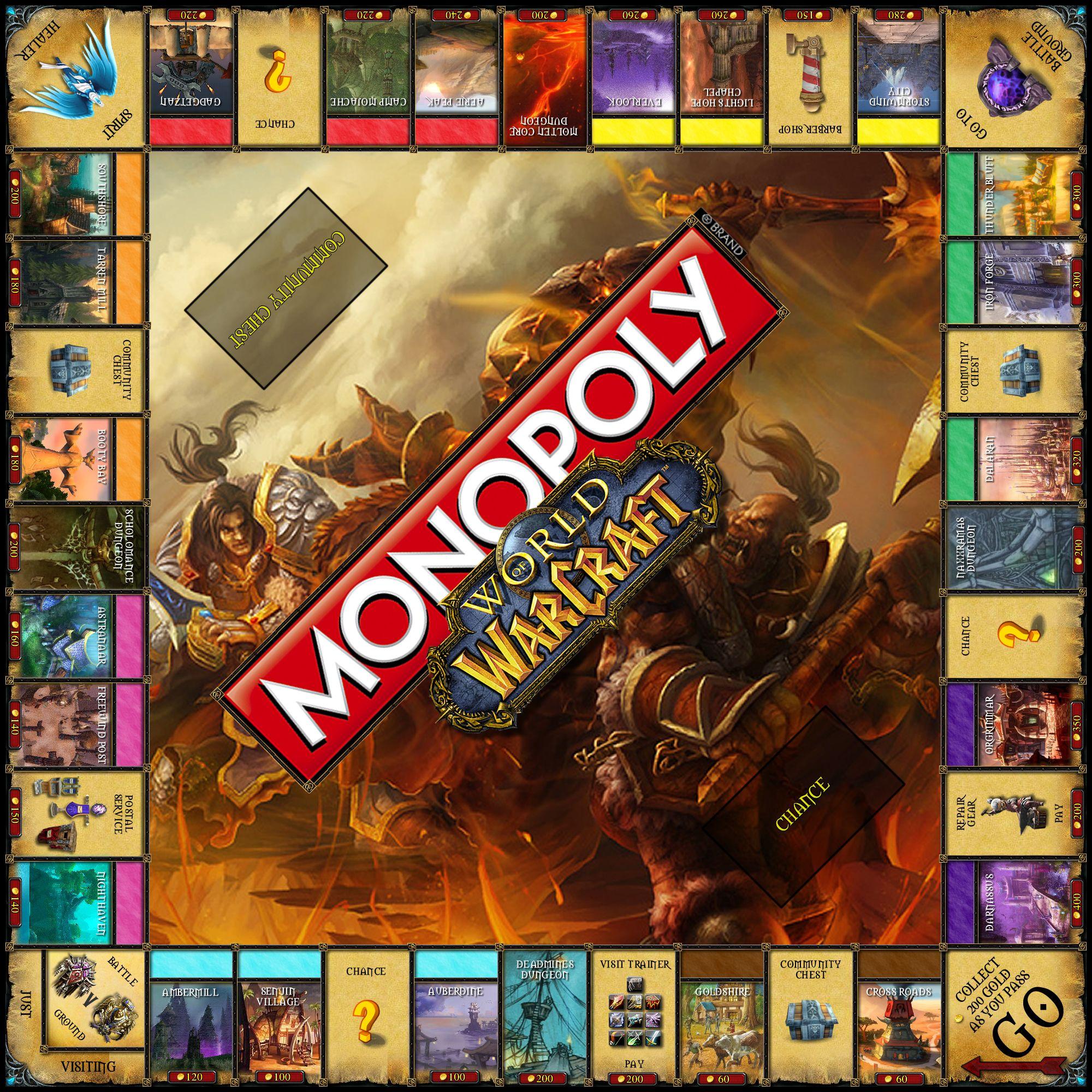 World Of Warcraft Monopoly World Of Warcraft Warcraft World