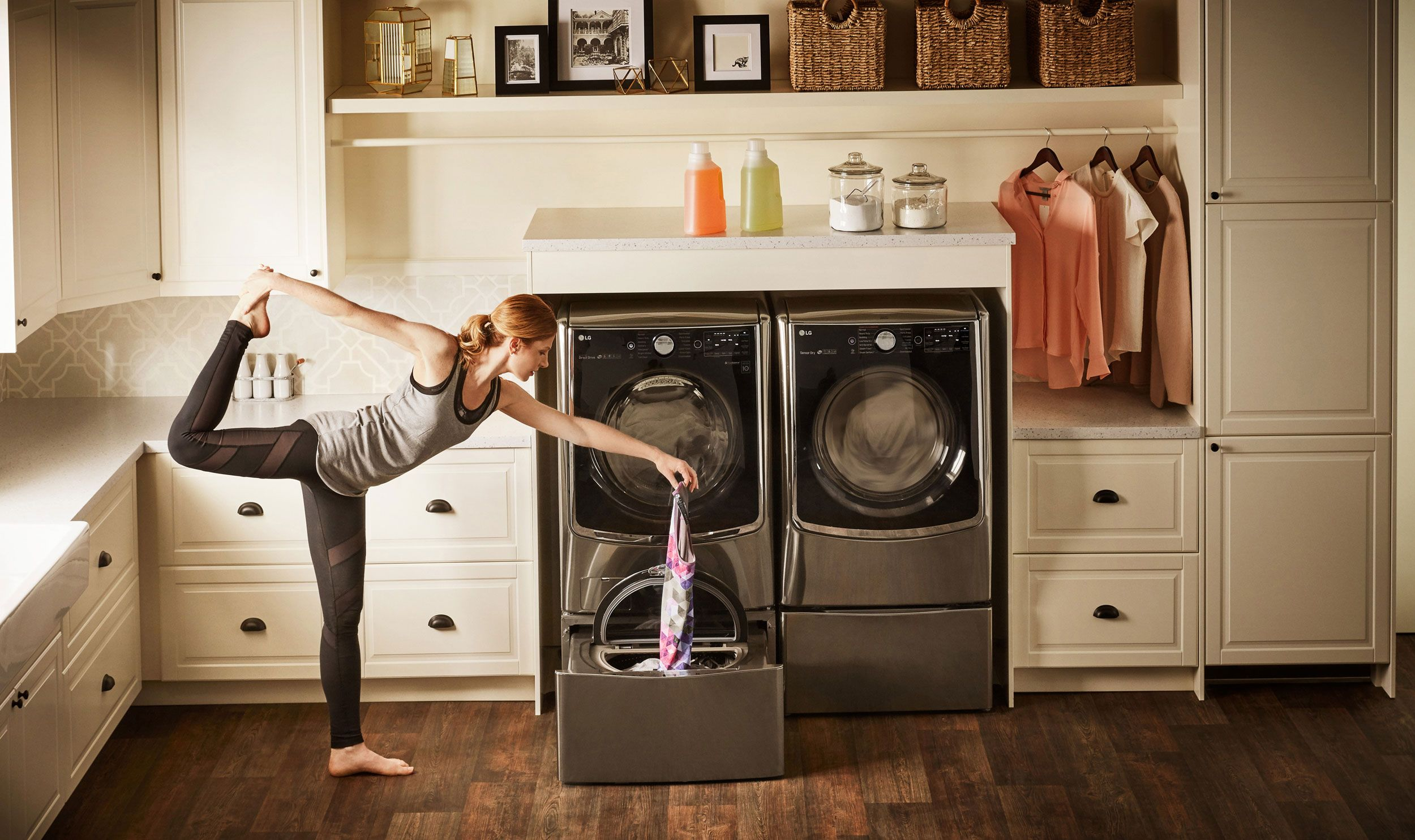 Add The Ingenious Lg Sidekick Pedestal Washer To Your Lg Twin Wash C With Images Small Laundry Room Organization Laundry Room Organization Laundry Room Storage