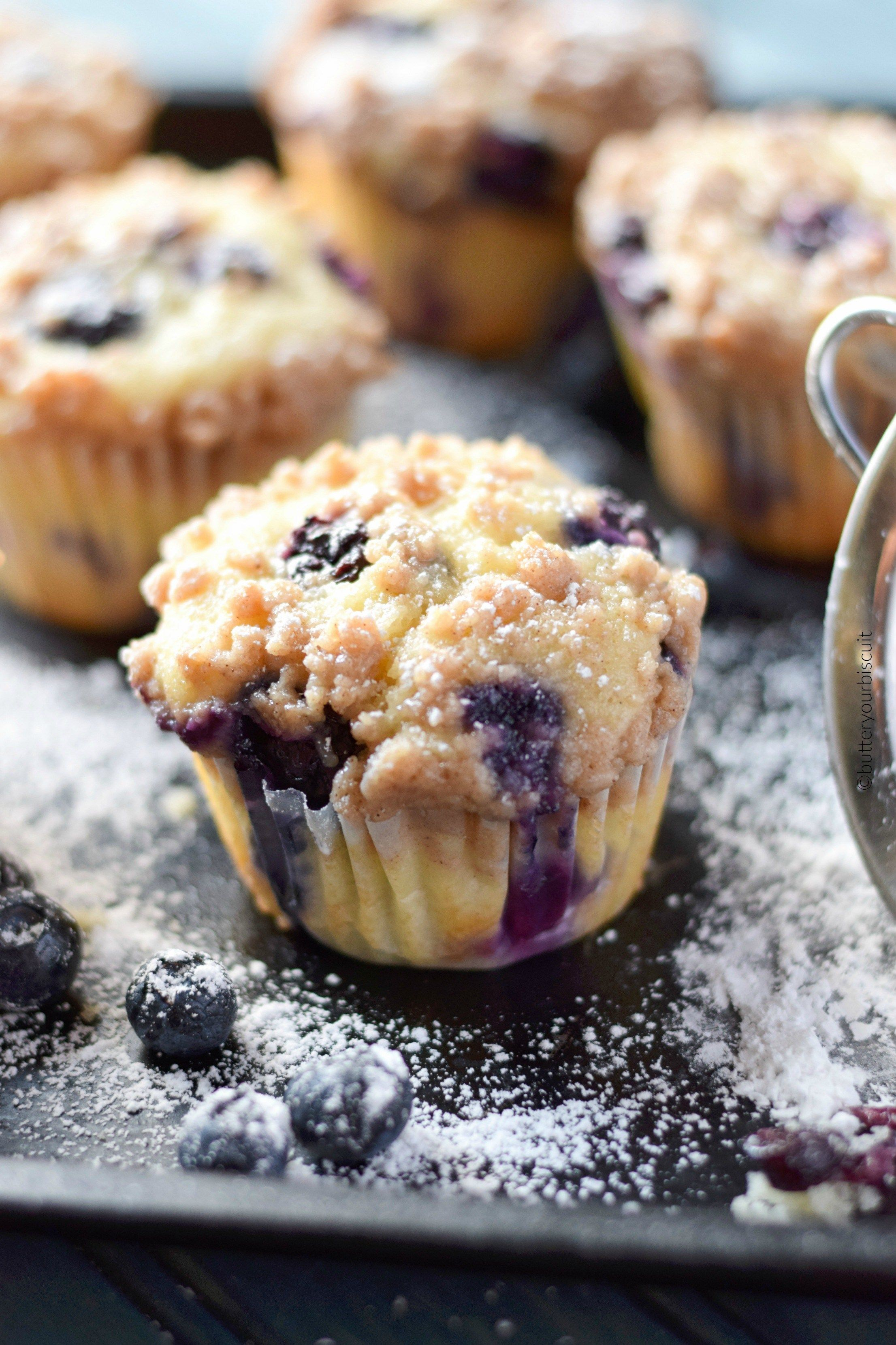 Sour Cream Blueberry Muffins Recipe Butter Your Biscuit Recipe Sour Cream Blueberry Muffins Sour Cream Muffins Sour Cream Recipes