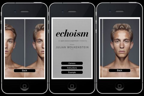 Echoism App What You D Look Like With A Symmetrical Face With